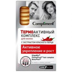 Ампулы для волос Compliment Термоактивный комплекс Активное укрепление и рост