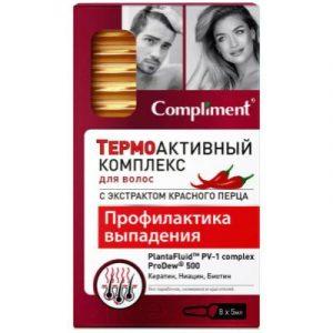 Ампулы для волос Compliment Термоактивный комплекс Профилактика выпадения