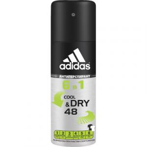 Антиперспирант-спрей Adidas Cool & Dry 6 в 1 48ч для мужчин