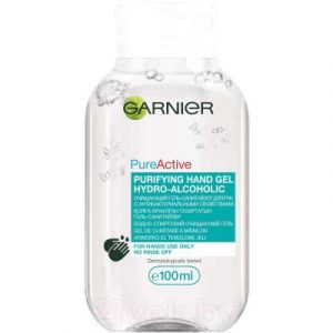 Антисептик для рук Garnier Очищающий гель-санитайзер с антибактериальными свойствами