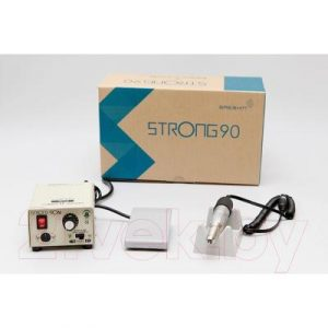 Аппарат для маникюра STRONG 90N/120 с педалью в коробке 30000 об/мин