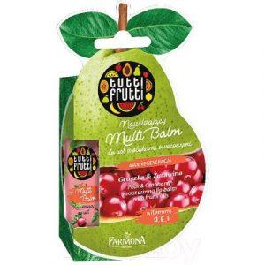 Бальзам для губ Farmona Tutti Frutti груша и клюква увлажнение