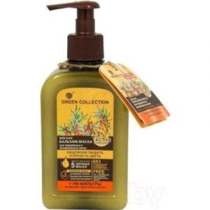 Бальзам-маска для волос Green Collection Мягкая Надежная защита и яркость цвета