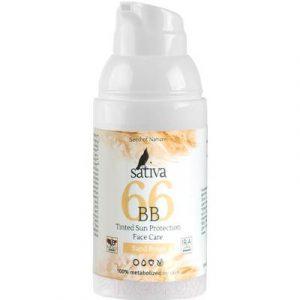 BB-крем Sativa Ухаживающий с тонирующим эффектом №66 Sand Beige SPF15