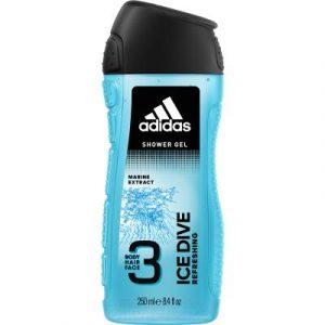 Гель для душа Adidas Body Hair Face Ice Dive для мужчин