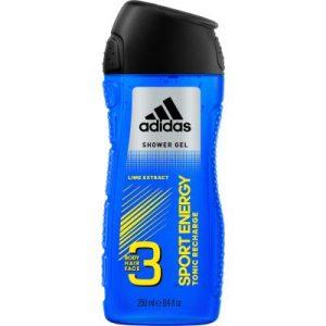 Гель для душа Adidas Sport Energy Body-Hair-Face