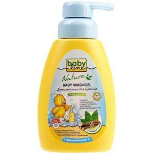 Гель для душа детский Babyline Nature с мятой и солодкой для детей с первых дней жизни DN 71