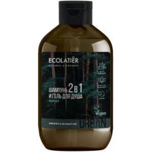 Гель для душа Ecolatier Urban Man кипарис и зеленый чай 2 в 1