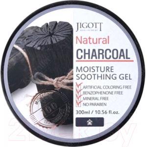 Гель для тела Jigott Natural увлажняющий успокаивающий с древесным углем