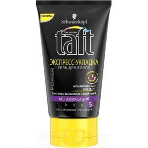 Гель для укладки волос Taft Power. Экспресс-укладка мегафиксация моментальный результат