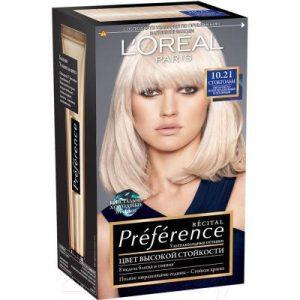 Гель-краска для волос L'Oreal Paris Preference 10.21 Стокгольм