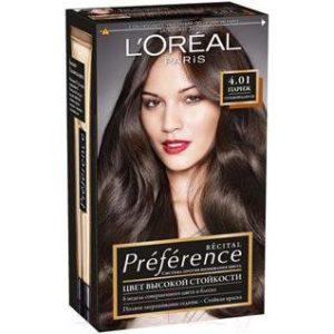 Гель-краска для волос L'Oreal Paris Preference 4.01 Париж