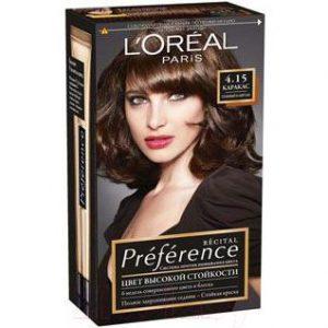Гель-краска для волос L'Oreal Paris Preference 4.15 Каракас