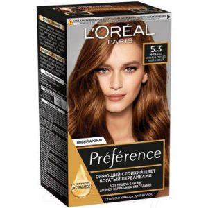 Гель-краска для волос L'Oreal Paris Preference 5.3 Монако золотой светло-каштановый