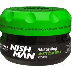 Глина для укладки волос NishMan M2 Hair Matte Clay матовая