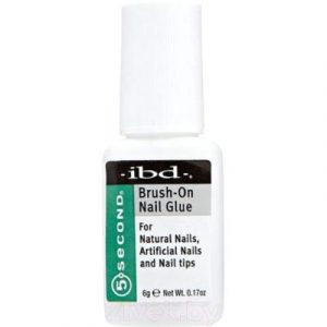 Клей для накладных ногтей IBD Brush-On Nail Glue с кисточкой