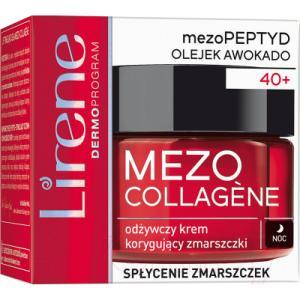 Крем для лица Lirene Mezo Collagene питательный разглаживающий морщины ночь