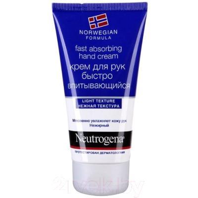 Крем для рук Neutrogena Норвежская формула быстро впитывающийся