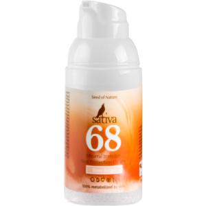 Крем солнцезащитный Sativa Невидимый минеральный №68 Rose Beige SPF30