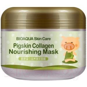 Маска для лица гелевая Bioaqua Pigskin Collagen питательная коллагеновая