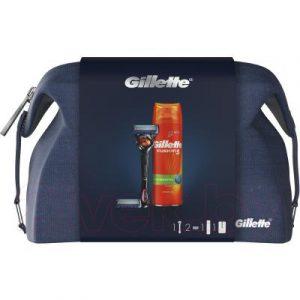 Набор косметики для бритья Gillette Fusion ProGlide Flexball станок+2 кассеты+гель для бритья+чехол