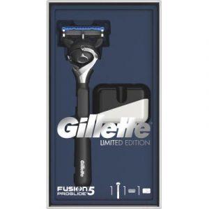 Набор косметики для бритья Gillette Fusion5 ProGlide бритва+1 сменная кассета+подставка для бритвы