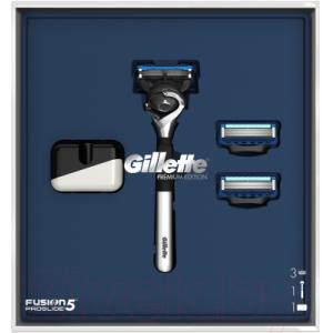 Набор косметики для бритья Gillette FusProGldFlexball станок+магнитная подставка