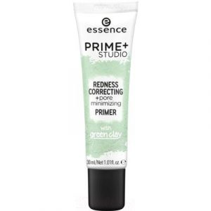 Основа под макияж Essence Prime+Studio Redness Correcting+Pore Minimizing Primer