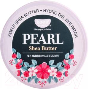Патчи под глаза Koelf Shea Butter с маслом ши и жемчужной пудрой