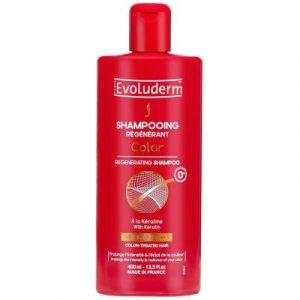 Шампунь для волос Evoluderm Восстанавливающий для окрашенных волос с кератином