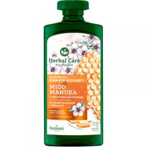 Шампунь для волос Farmona Herbal Care Питательный Мед и Манука. Для всей семьи