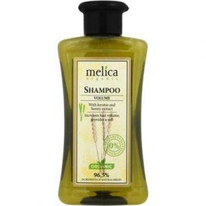 Шампунь для волос Melica Organic Для увеличения объема с кератином и экстрактом меда