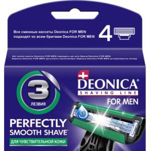 Сменные кассеты Deonica For Men 3 лезвия