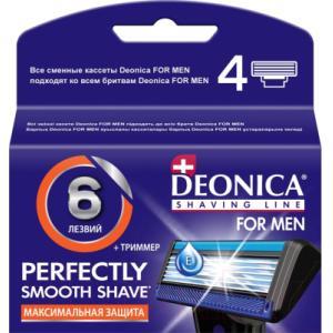 Сменные кассеты Deonica For Men 6 лезвий