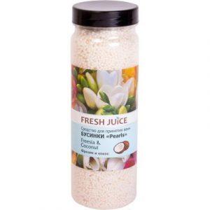 Соль для ванны Fresh Juice Фрезия и Кокос