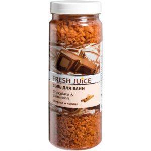 Соль для ванны Fresh Juice Шоколад и корица