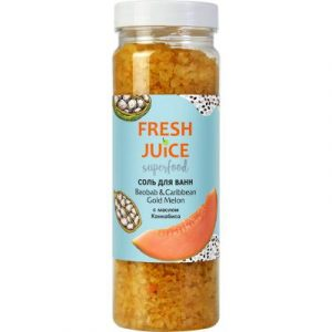 Соль для ванны Fresh Juice Superfood Baobab & Caribbean Gold Melon