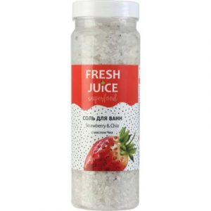 Соль для ванны Fresh Juice Superfood Strawberry & Chia