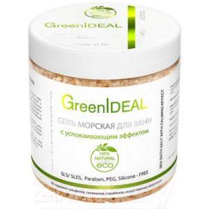 Соль для ванны GreenIdeal Натуральная морская с успокаивающим эффектом