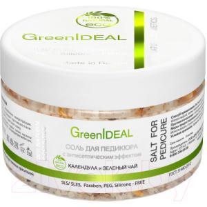Соль для ванны GreenIdeal С антисептическим эффектом Календула и Зеленый чай
