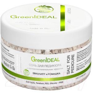 Соль для ванны GreenIdeal С противовоспалительным эффектом Эвкалипт и Ромашка