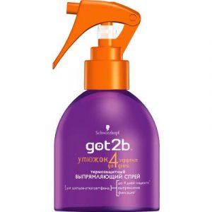 Спрей для укладки волос Got2b Выпрямляющий эффект термозащитный
