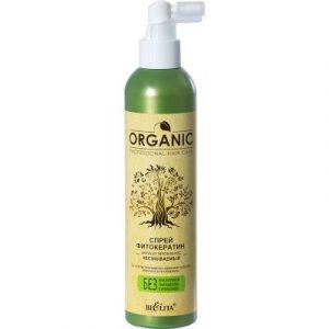 Спрей для волос Belita Organic фитокератин для всех типов волос несмываемый