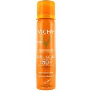 Спрей солнцезащитный Vichy Capital Soleil спрей-вуаль освежающий для лица SPF50
