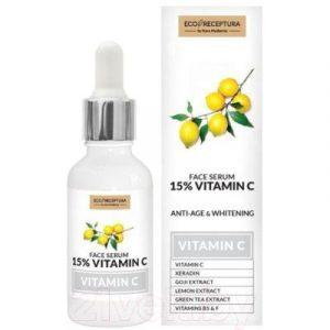 Сыворотка для лица Stara Mydlarnia Ecoreceptura Face Serum 15% Vitamin C Антивозрастная