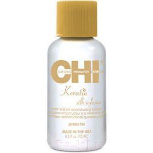 Сыворотка для волос CHI Keratin Silk Infusion Восстанавливающая с шелком и кератином