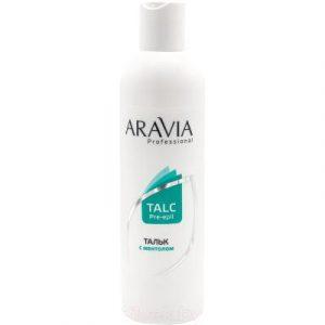 Тальк для депиляции Aravia Professional с ментолом