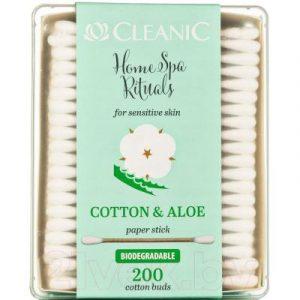 Ватные палочки Cleanic Home SPA Rituals с экстрактом алоэ для чувствительной кожи