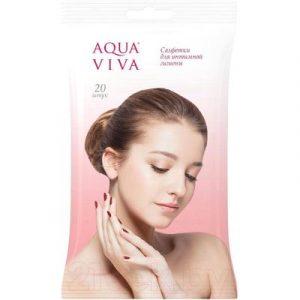 Влажные салфетки для интимной гигиены Aqua Viva 20шт