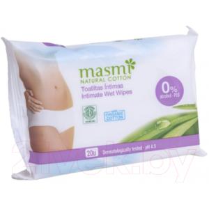 Влажные салфетки для интимной гигиены Masmi Natural Cotton